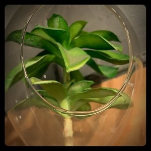 Indigo Accents - Artificial air plant in glass hanging globe